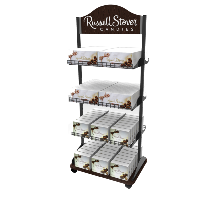 Russell Stover Custom Product Display - made of wire and metal