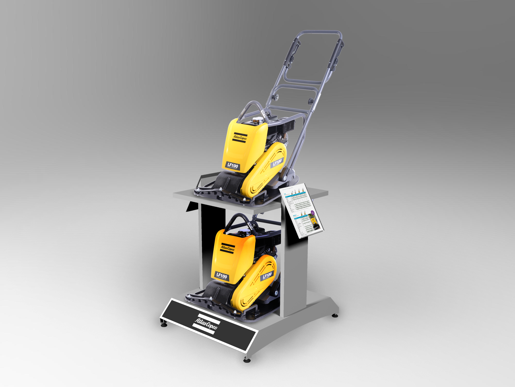 2-Tier Equipment Display - Heavy duty design to show two pieces of equipment