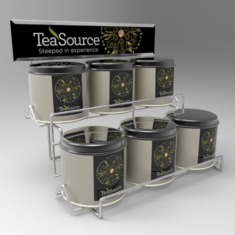Counter Display with Shelves for Tea