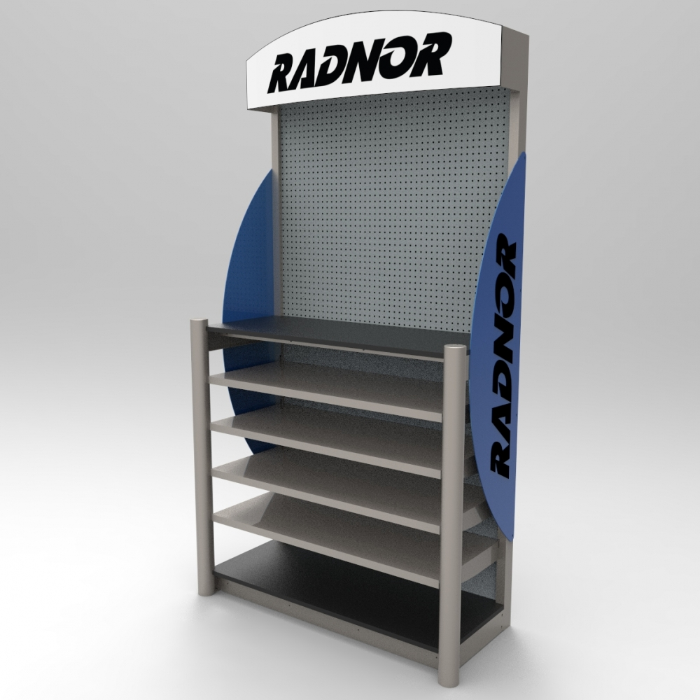 Display w Heavy Duty Shelves-Welding Supplies