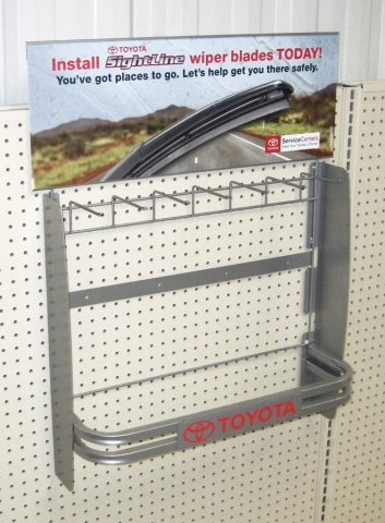 Peg Hanging Wiper Blade Display