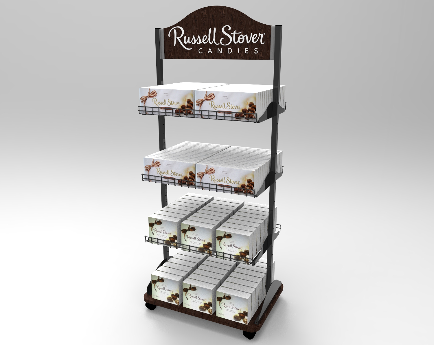 2-Sided Candy Display - Floor display that is shopped from both sides