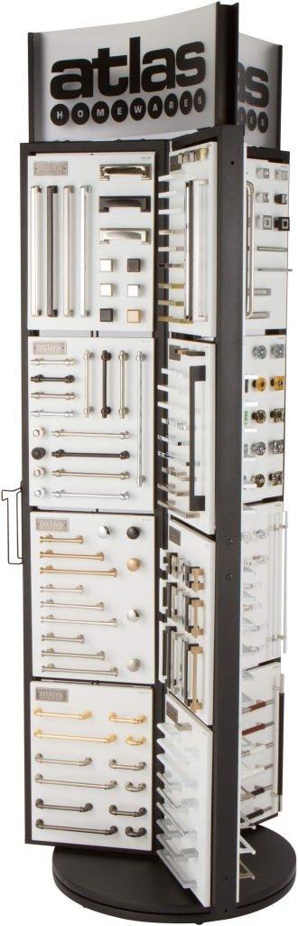 Rotating Display-Cabinet Hardware