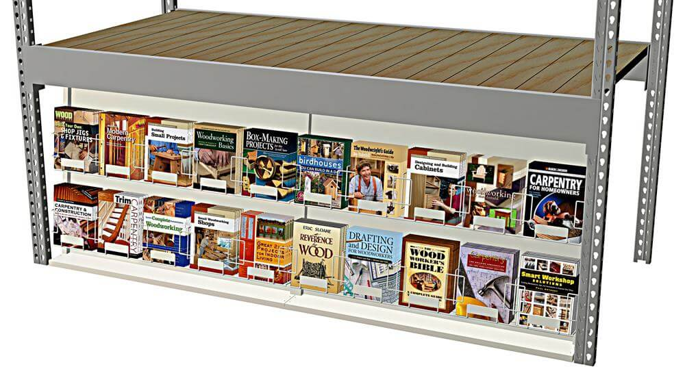 Book Display for Warehouse H-Rack