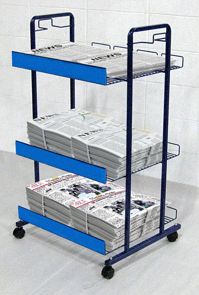 Rolling Newspaper Rack