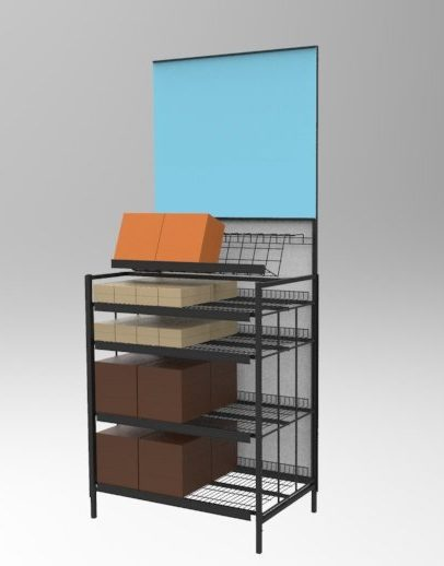 Custom Point of Purchase Wire Grid Display manufactured by Keystone Displays.