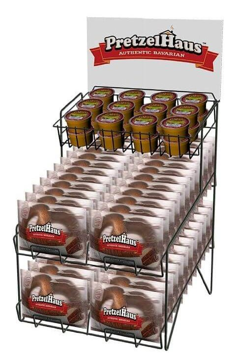 POP wire counter display rack for food manufacturers.